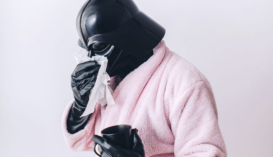 "Uno degli scatti di ""The daily life of Darth Vader"""