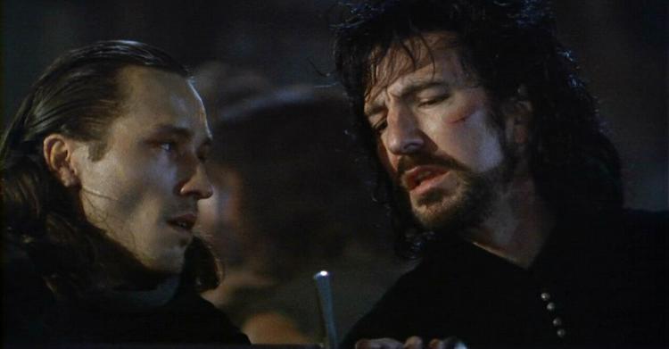 Alan Rickman (a destra) insieme a Michael Wincott